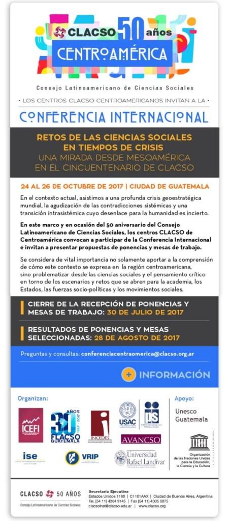 afiche conferencia CLACSO